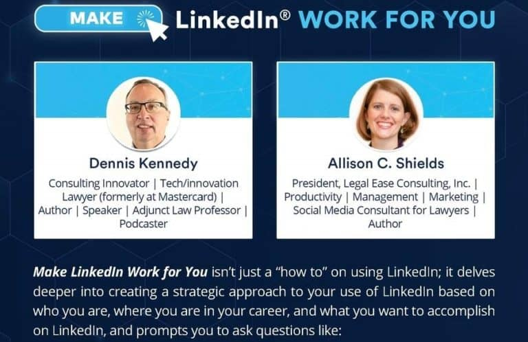 New Solo Podcast: Making the Most of Your LinkedIn Profile with Dennis Kennedy and Allison Shields