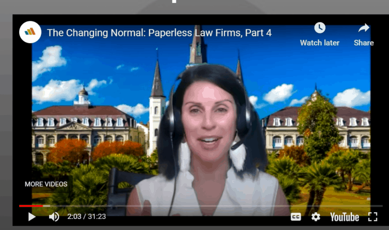 Adriana Guests on Litera TV: Going Paperless
